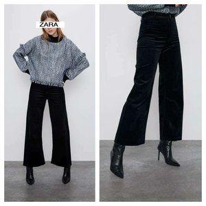 ZARA MARINE BLACK CORDUROY PANTS JEANS